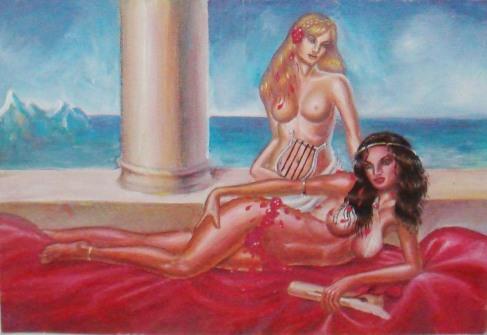 Sappho si una dintre muzele ei, tablou furat in timpul unei expozitii in 2008