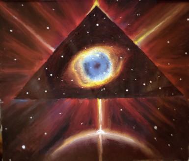 Nebuloasa Ochiul lui Dumnezeu, pictura