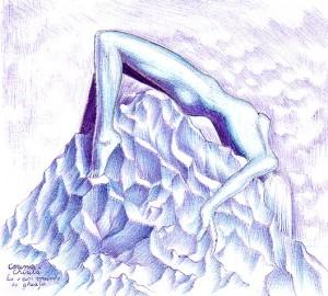 Ea este un munte de gheata, desen facut cu pixul