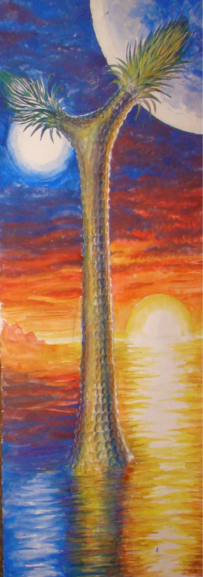 Sigillaria, pictura acuarela