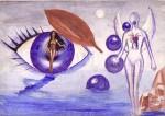 Emotie de toamna, o pictura pe care am creat-o in octombrie 2000, una dintre primele mele picturi