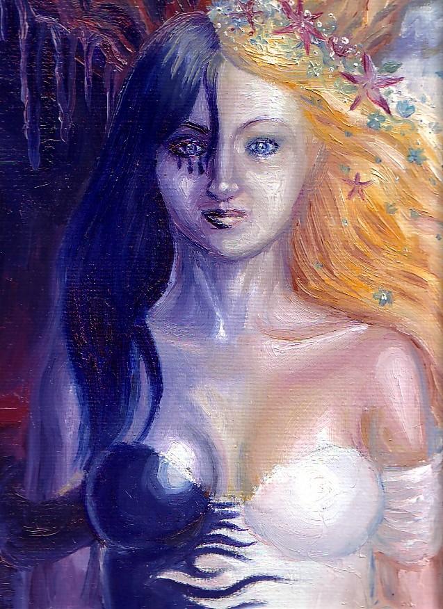 Cele doua fete ale Persephonei pictura ulei pe panza
