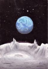 Pamantul vazut de pe luna, pictura din anul 2001