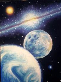 Pamantul luna si Calea Lactee