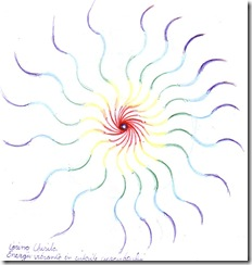 Energii vibrante in culorile curcubeului - Rainbow vibe energy abstract drawing desen abstract