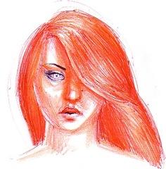 Fata cu parul de foc