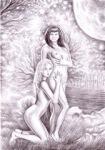 Doua fete in natura
