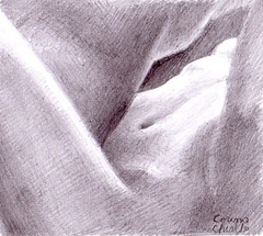 Emotia apropierii - Prima noapte de dragoste - desen in creion- - Skin on sking for the fist time - Making love pencil drawing