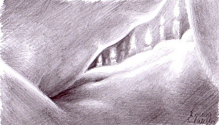 Making love for the fist time in the candle light - Skin on skin - pencil drawing - Prima noapte de dragoste -  Dragoste tandrete si pasiune - - nuduri - desen erotic in creion