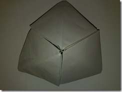 Piramida hexagonala origami