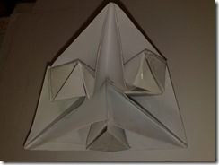 Piramida hexagonala origami din 3 coli a4