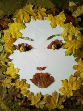 Chipul toamnei din frunze - Covor de frunze ingalbenite de toamna luate din Herastrau