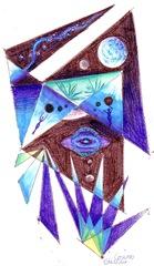 Desen in stilul lui Kandinsky