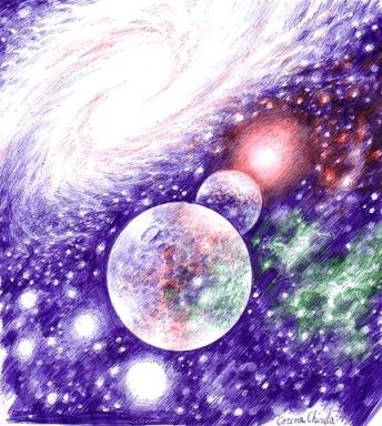 LuminisiumbrepeosferaGalaxiestelesiplanetedeseninpixGalaxystarsandplanetsballpointpendrawing.jpg