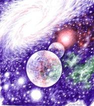 Desen cosmic facut cu pixul