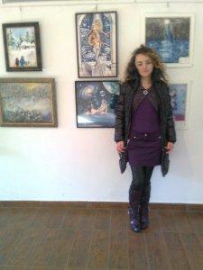 Eu cu tablourile mele