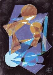 Pictura abstracta in stilul lui Kandinsky