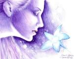 Floare albastra, cel mai nou desen in pix inspirat din poezia lui Mihai Eminescu