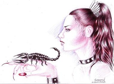 Hera si scorpionul trimis sa-l omnoare pe Orion - Zodiac inspirat din mitologia  greaca