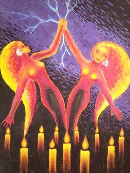 Iubire dintre doua spirite doua fantome pictura 2002
