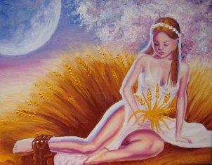 Zeita fecioara Kore si mana lui Hades, pictura ulei pe panza