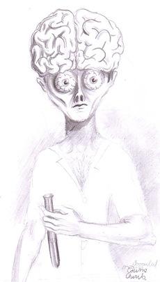 Savantul nebun sau portretul unui om de stiinta de geniu - The mad  brainiac scientist