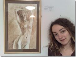 Corina Chirila si nudul pictat cu cafea
