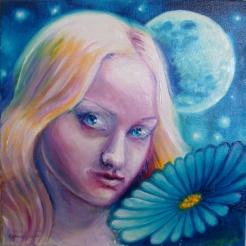 Portretul Elenei Alupului, prima si maera iubirea a lui Mihai Eminescu, pictura ulei pe panza