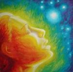Muza in culorile curcubeului, pictura
