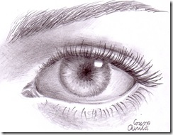 Ochi desenat in creion - Eye pencil drawing