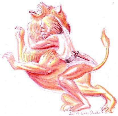 Zodia leului - Hercule si leul Nemean
