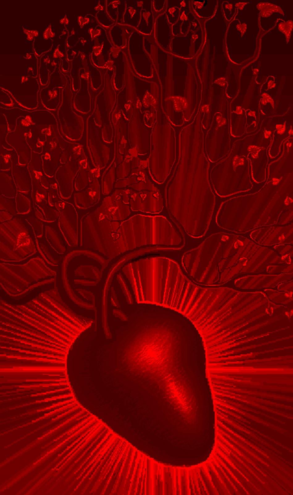 Arborele inimii, desen facut in MS paint