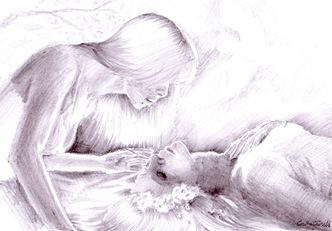 Atingerea unei dimineti de primavara un vis desen in creion de poveste