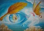 Emotie de toamna pictura inspirata din poezia lui Nichita Stanescu