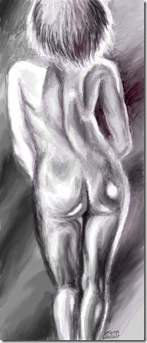 Nud desen in creion