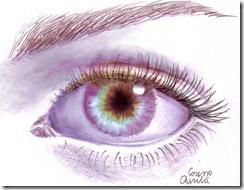 Ochi desenat in creion - Eye pencil drawing