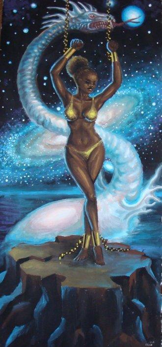 Printesa etiopiana Andromeda pictura tempera