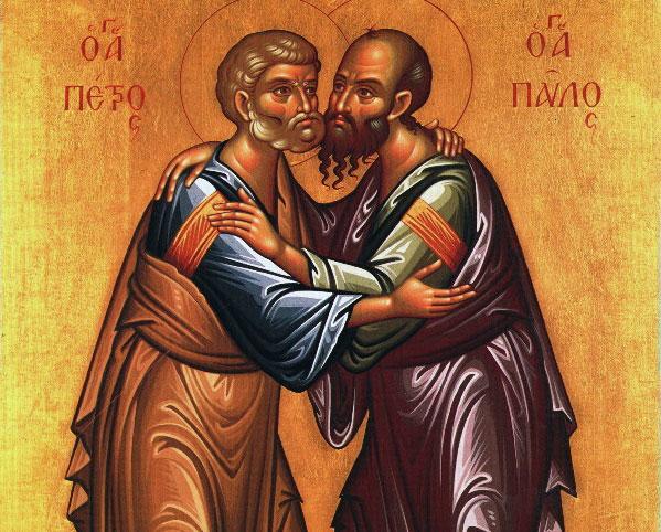 Sfintii Petru si Pavel, icoana bizantina