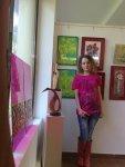Artista Corina Chirila la salonul de primavara organizat de Asociatia Artistilor Plastici din Bucuresti in Herastrau