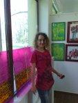Artista Corina Chirila si doua tablouri de primavara expuse la salonul organizat de Asociatia Artistilor Plastici din Bucuresti in Herastrau alaturi de lucrarile lui Mihai Boroiu