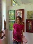 Corina Chirila la salonul de primavara din herastrau cu cele doua lucrari expuse