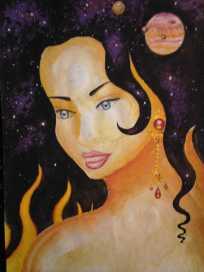 Pictura din anul 2002 inspirata don poezia Din parul Tau de Lucian Blaga