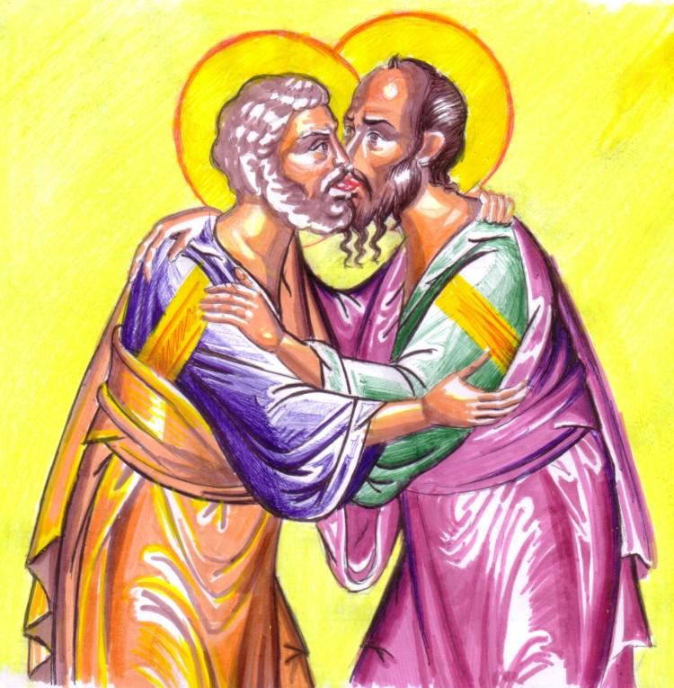 Sfintii apostoli Petru si Pavel, desen