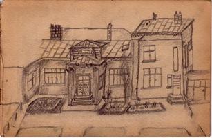 Casa desen in creion
