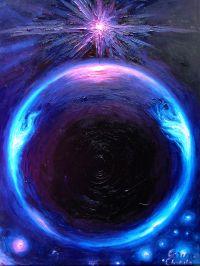 Planeta extrasolara Gliese 581 g pictura ulei pe panza