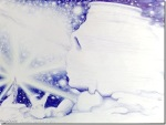 Zamolxis xu mainile spre cer in fara sfinxului dacic din Bucegi, desen in pix