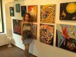 Corina Chirila la salonul de arta moderna de la galeria AAP din Herastrau