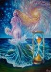 Pictura in ulei pe panza inspirata din poezia Din Valurile Vremii de Mihai Eminescu