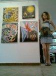 Pictura spatiala de Corina Chirila la galeria AAP din Herastrau salonul de arta moderna organizat de Asociatia Artistilor Plastici din Bucuresti