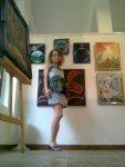Salon arta moderna galeria AAP din Herastrau - Artista Corina Chirila cu cateva peisaje spatiale